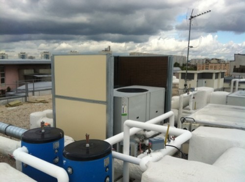 Isolation groupe froid en toiture