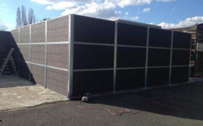 Installation d'une clôture anti bruit ORIGIN à l'Institut FCBA de Bordeaux