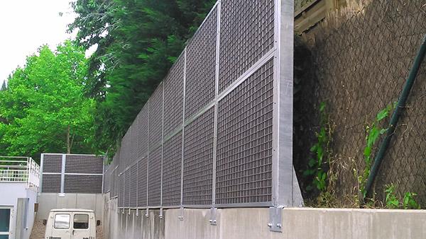 Installation une cloture anti bruit en alsace fermisol for Insonorisation mur exterieur