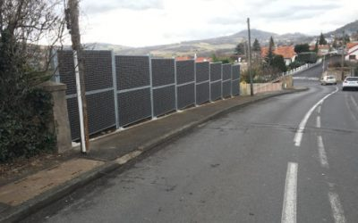 Mur anti bruit jardin