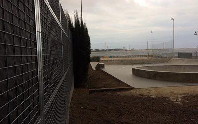 Mur anti bruit Skate park