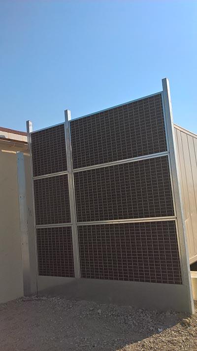 Mur anti bruit climatisation container