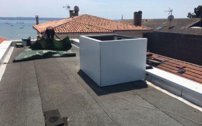 Absorber le bruit d'une climatisation sur un toit terrasse