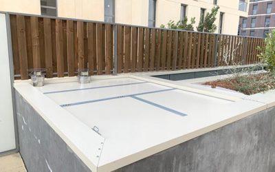 Caisson anti-bruit avec trappe d'accès technique – Bordeaux 2020