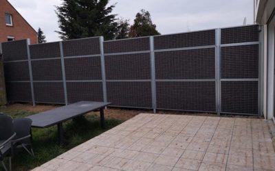 clôture anti bruit particuliers avant après